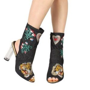 Shoes - FIERCE EMBROIDERED BOOT
